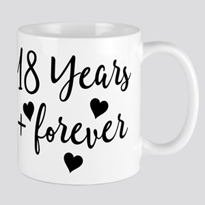 18th Anniversary Couples Gift Mugs